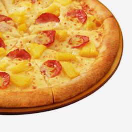 <p>火腿、菠萝和大量醇美芝士融汇的鲜美香甜,每一口都会让您欣然感受到源自夏威夷阳光的灿烂滋味。 </p>