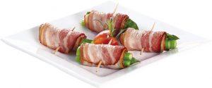<p>香气四溢的培根包裹爽脆芦笋,让每一口都美味可口。(70g)</p>