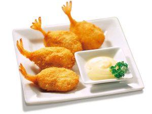 <p>肥美鲜嫩的精选大虾,外层包裹松软的面包屑,炸至金黄香脆,咬下一口,酥香满满。蘸上千岛酱品尝更是美味绝伦。(65g)</p>