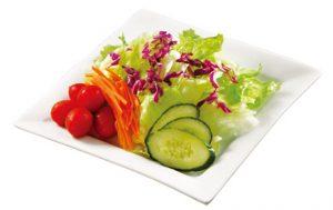 <p>新鲜番茄,黄瓜,爽脆生菜,诱人胡萝卜和紫色卷心菜,营养丰富,新鲜健康。(160g)</p>