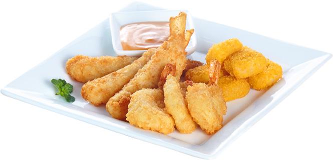 <p>香脆的黄金虾、妙脆星星薯、营养丰富的鳕鱼条,丰盛的海鲜大餐非它莫属。(220g)</p>